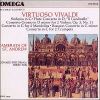 Leonard Friedman / Vivaldi : Sinfonia In G. Rv149, Flute Concerto In D (미개봉/oovc5005)