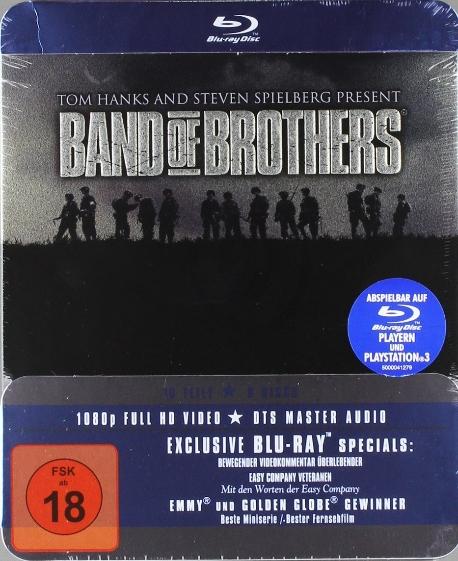 밴드 오브 브라더스 : 틴케이스 한정판(6DISC) - 블루레이 ?미개봉, 국내절판, 독일판 직수입(한글자막 완벽지원), 국내플레이어재생가능