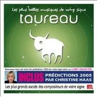 [미개봉 CD] Les Plus Belles musiques de votre signe : Taureau