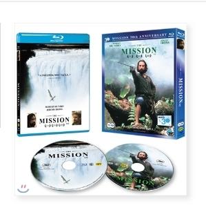 [블루레이+DVD] 미션 한정판 - The Mission 1986 (2disc) 미개봉새제품,2디스크+아웃케이스포함,125분+부가