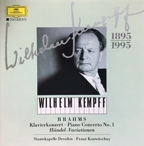 Wilhelm Kempff, Franz Konwitschny / Brahms : Piano Concerto No. 1, Handel-Variation (수입/4479782)