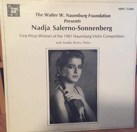 The walter w Naumberg Foundation/ Nadja Salerno Sonnenberg