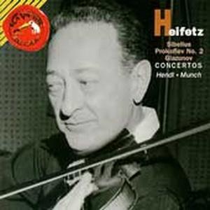 Jascha Heifetz / 시벨리우스, 프로코피에프, 글라주노프 : 바이올린 협주곡집(수입/09026617442)