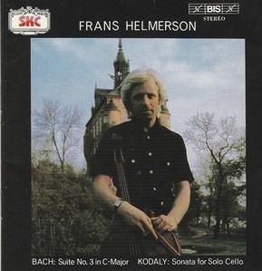 Frans Helmerson / Bach: Suite No.3 In C-Major & Kodaly: Sonata For Solo Cello (SKCDL0204