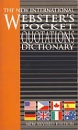 WEBSTER'S POCKET QUOTATIONS DICTIONARY  (NEW REVISED EDITION)