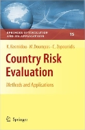 Country Risk Evaluation : Methods and Applications (ISBN : 9781441945723)