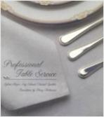 [영어원서 테이블세팅] Professional Table Service (Sylvia Meyer 외, 1999년) [양장]