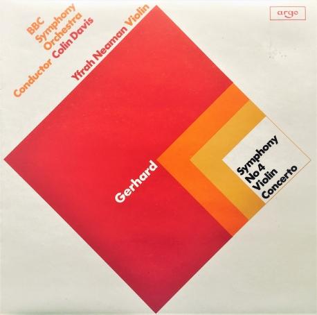 [수입][LP] Colin Davis, Yfrah Neaman, BBC Symphony Orchestra - Gerhard: Symphony No 4 / Violin Concerto