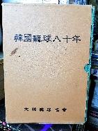 한국농구80년 -1907년~1988년-  -韓國籠球八十年- 하드커버,두꺼운책- -1989년 초판-아래 사진참조-
