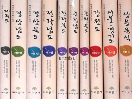 한국의 전통향토음식 (전10권)