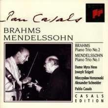Pablo Casals / 멘델스존: 피아노 삼중주 1번 & 브람스: 피아노 삼중주 2번 (Mendelssohn: Piano Trio No.1 & Brahms: Piano Trio No.2) (수입/SMK66571)