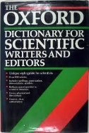 The Oxford Dictionary for Scientific Writers and Editors (Hardcover)