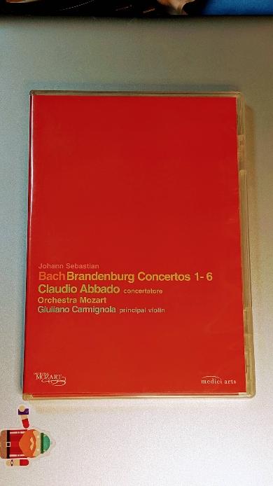 바흐 브란덴부르크 협주곡 전곡 BACH BRANDENBURG CONCERTOS 1-6 / Claudio Abbado - Orchestra Mozart, Giuliano Carmignola