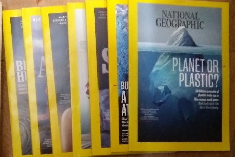 내셔널 지오그래픽 National Geographic 2018년6월~12월 (7권) 영문판