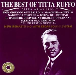 [미개봉] Titta Ruffo / The Best of Titta Ruffo (Original Recordings from 1912 to 1929) (수입/미개봉/AB78518)