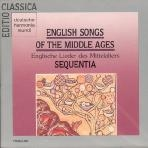 ENGLISH SONGS OF THE MIDDLE AGES (중세 영국 민요집) [수입] 새것같은 개봉