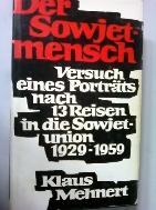 DER SOWJETMENSCH      (KLAUS MEHNERT/독일어원서/ab)