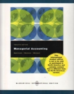 Managerial Accounting 12/E