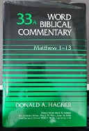 Word Biblical Commentary Vol. 33a, Matthew 1-13 (hagner), 483pp (Hardcover)
