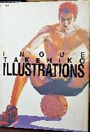 INOUE TAKEHIKO ILLUSTRATIONS -이노우에 다케히코 그림- 스램덩크 화보집- -1997년 초판-절판된 귀한책-하드커버,큰책--아래사진참조-