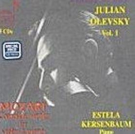 Julian Olevsky 줄리안 올레프스키 - 모차르트: 바이올린과 피아노를 위한 소나타 전곡집