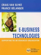 E-Business Technologies : Supporting the Net-Enhanced Organization  (ISBN : 9780471393924)