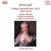 [중고] Takako Nishizaki, Capella Istropolitana,  Stephen Gunzenhauser / Mozart - Violin Concertos Nos.3 & 5 (수입/8550063)