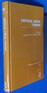 Critical Legal Theory Critical Concepts in Law Vol 4  ISBN 9780415486774. /사진의 제품  / 상현서림 / :☞ 서고위치:MH 1 * [구매하시면 품절로 표기됩니다]