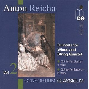 Consortium Classicum / 라이하 : 목관 오중주와 현악 사중주 2집 (Reicha : Quintets For Winds And String Quartet Vol . 2) (수입/MDG30105022)