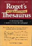 Roget's International Thesaurus 4th edition / 앞속지에 편지글 있습니다 / 겉표지에 비닐커버 씌워져 있습니다