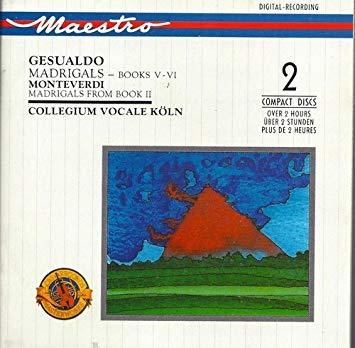 Collegium Vocale Koln / Gesualdo & Monteverdi : Madrigals (2CD/CC2K7568)