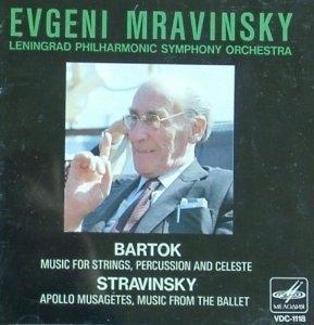 [중고] Evgeni Mravinsky / Bartok: Music For Strings, Percussion And Celeste; Stravinsky: Apollo Musagetes, Music From The Ballet (일본수입/vdc1118)