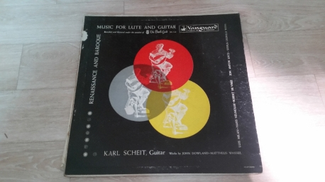 KARL SCHEIT Music for Lute And Guitar VANGUARD BANCH GUILD LP BG 548