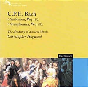 Christopher Hogwood ?? 6 Symphonies, Wq. 182