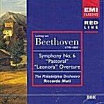Beethoven - Symphony No.6 & Leonora overture/ MUTI [수입] 미개봉 * 베토벤 전원 교향곡 / 빈 필 / 무티