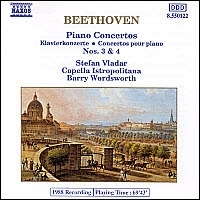 [중고] Stefan Vladar, Barry Wordsworth / Beethoven : Piano Concerto No.3 Op.37, No.4 Op.58 (수입/8550122)