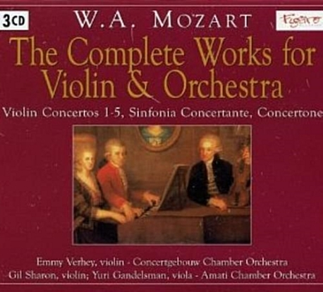 [수입] W.A.Mozart Complete Works for Violin & Or[3CD]