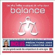 [미개봉 CD] Les Plus Belles musiques de votre signe : Balance
