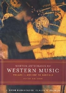 NORTON ANTHOLOGY OF WESTERN MUSIC 1,2 전2권 (5판) (CD 12장 포함)
