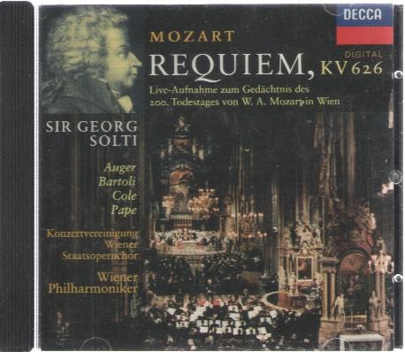 [수입] Mozart Requiem 모차르트 레퀴엠 Solti