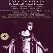 [미개봉] Rosa Ponselle / The Best from Her Acoustic Recordings (수입/미개봉/AB78576)