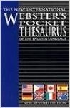 WEBSTER'S POCKET THESAURUS OF THE ENGLISH LANGUAGE