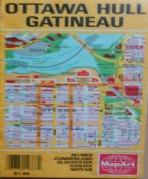 OTTAWA HULL GATINEAU (OTTAWA, CANADA, MAP)