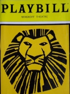 PLAYBILL August 2013 - The Lion King (English)
