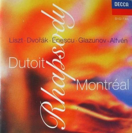 랩소디 : 리스트/ 드보르작/ Enescu/ Glazunov/ Alfven