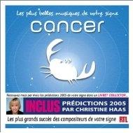 [미개봉 CD] Les Plus Belles musiques de votre signe : Cancer