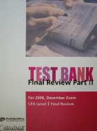 TEST BANK : CFA Level 1 Final Review Part 2