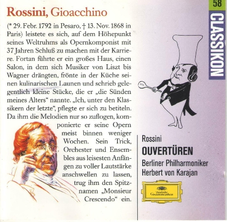 로시니 서곡 선집 카라얀 Rossini - Ouvert?ren 카라얀 (Herbert Von Karajan)