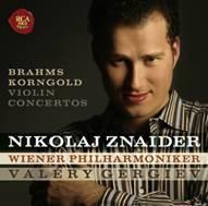 Nikolaj Znaider, Valery Gergiev / Brahms : Violin Concerto in D major, Op.77 (브람스 & 코른골트 : 바이올린 협주곡/미개봉)