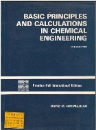 basic principles and calculations in chemical engineering 5th 5th